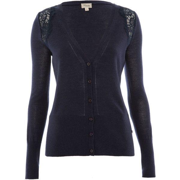 Temperley London Grace Shoulder Lace V-neck Cardigan ($130 ...