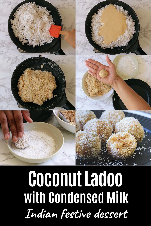 Coconut Ladoo Recipe With Condensed Milk Spice Up The Curry Recipe In 2020 Condensed Milk Recipes Recipes Coconut Ladoo Recipe