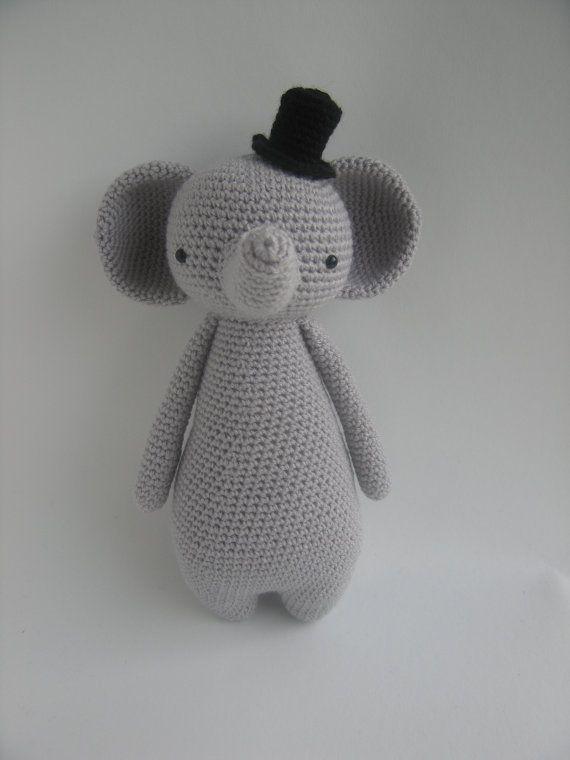 Etsy の Crochet Amigurumi Pattern Elephant by LittleBearCrochets ...