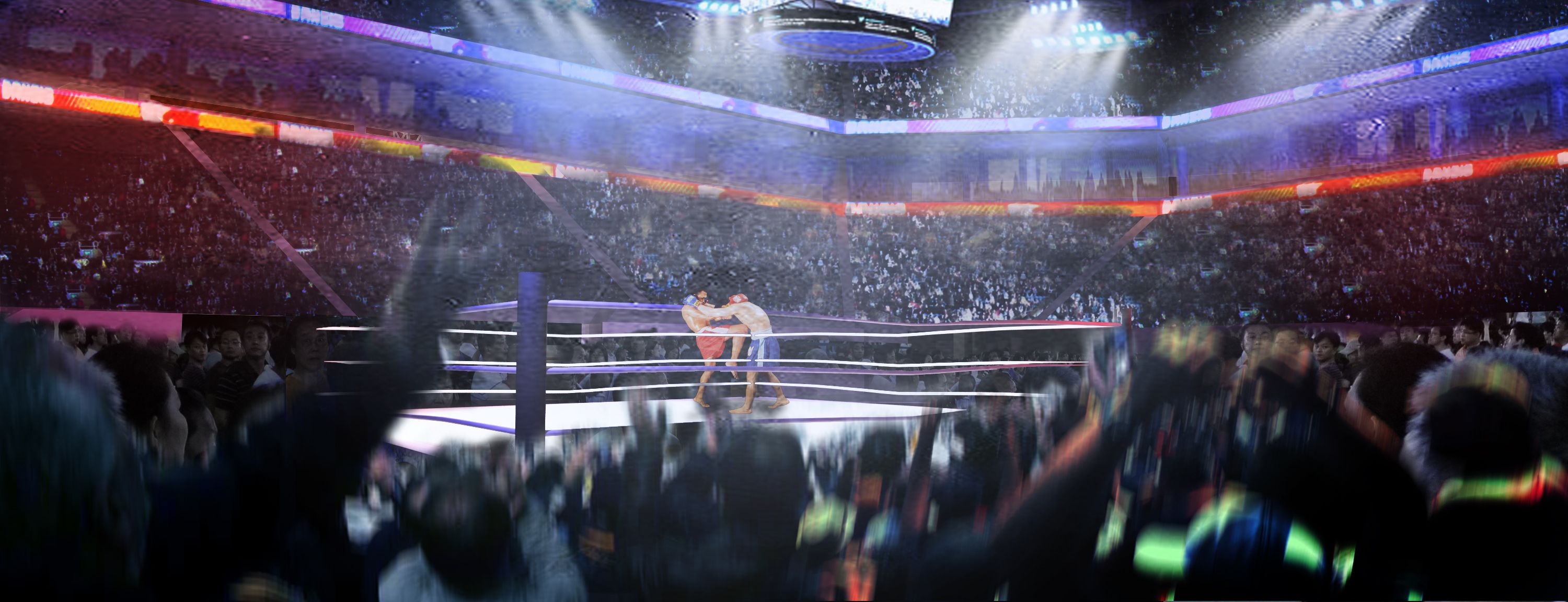Pin By Tle Pichaya On Hlp International Boxing Arena Design Project Inda Iii Business District Arena Arenas