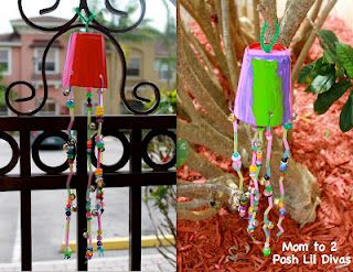 Explore wind & art by making these easy paper cup windchimes