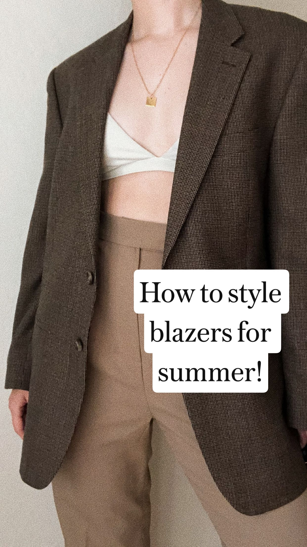 How to style blazers for summer!