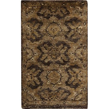Add a touch of texture to your living room seating group or den ensemble with this hand-woven hemp rug, showcasing an elegant Persian motif in a rich auburn ...
