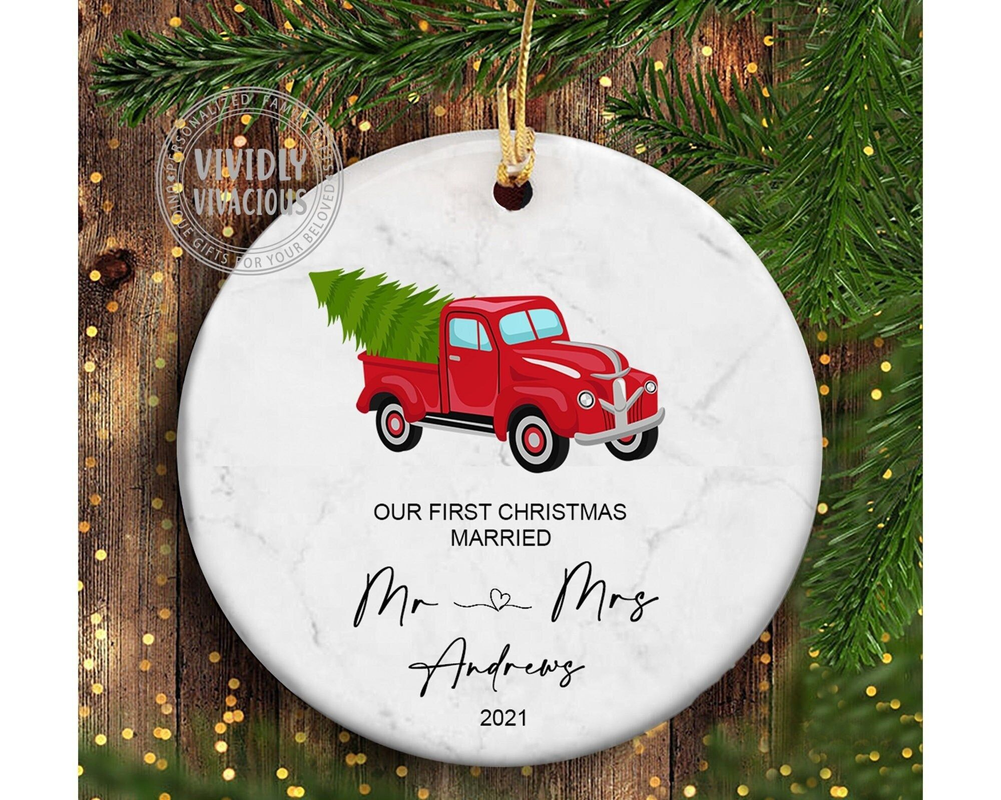 First christmas married ornament 2021