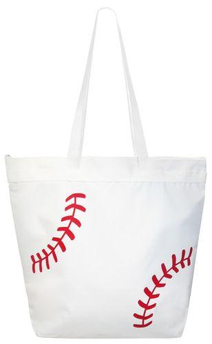 0ab93fc3b416 Baseball Laces Tote Bag White | Baseball Gift Central | Bags, Tote ...