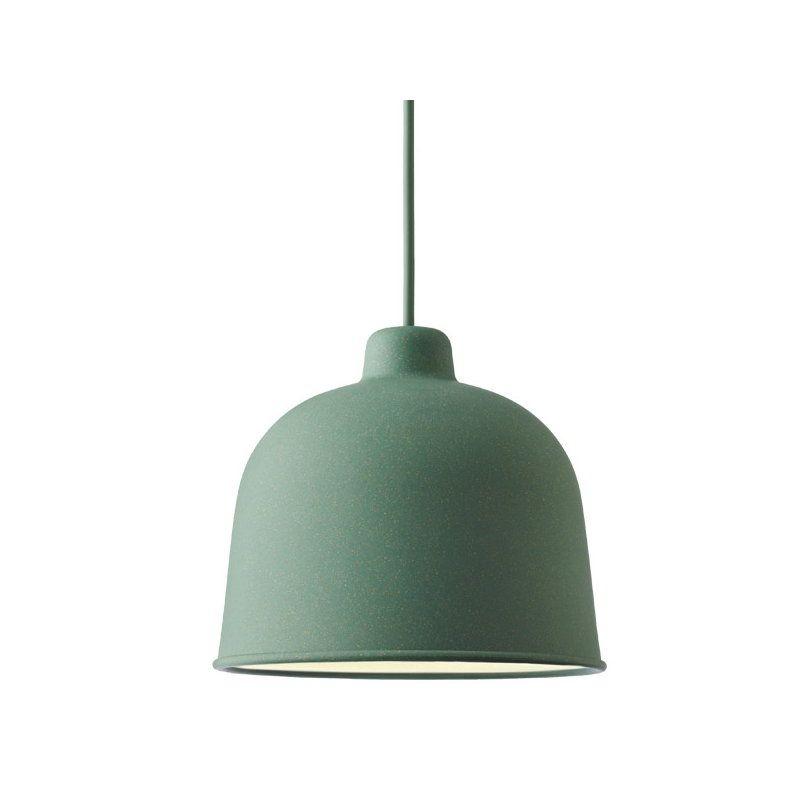 Muuto Grain Pendant Dusty Green Led Light Bulb Muuto Pendant