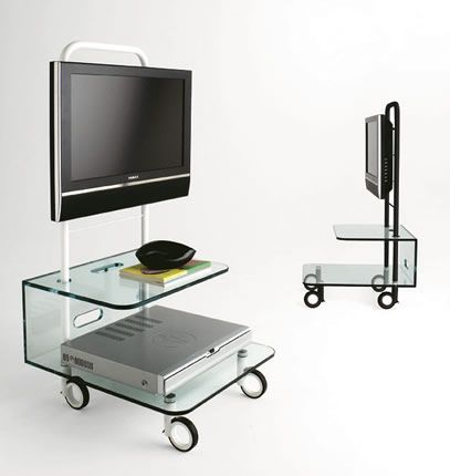 Modern Glass TV Stands from Tonelli of Italy | Glass TV Stands ...