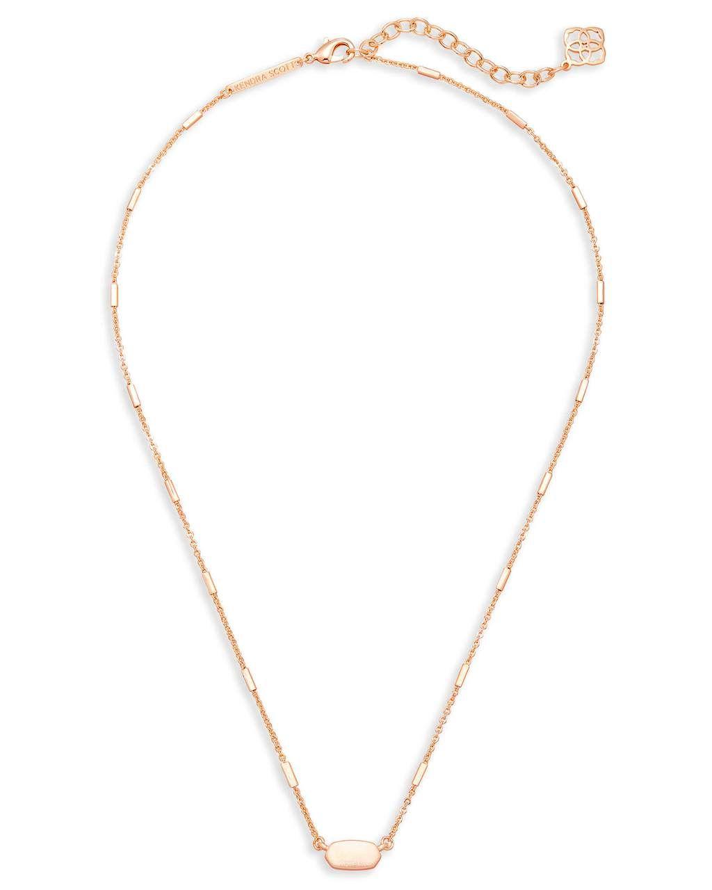 Kendra scott fern necklace rose gold in jewelry a girls