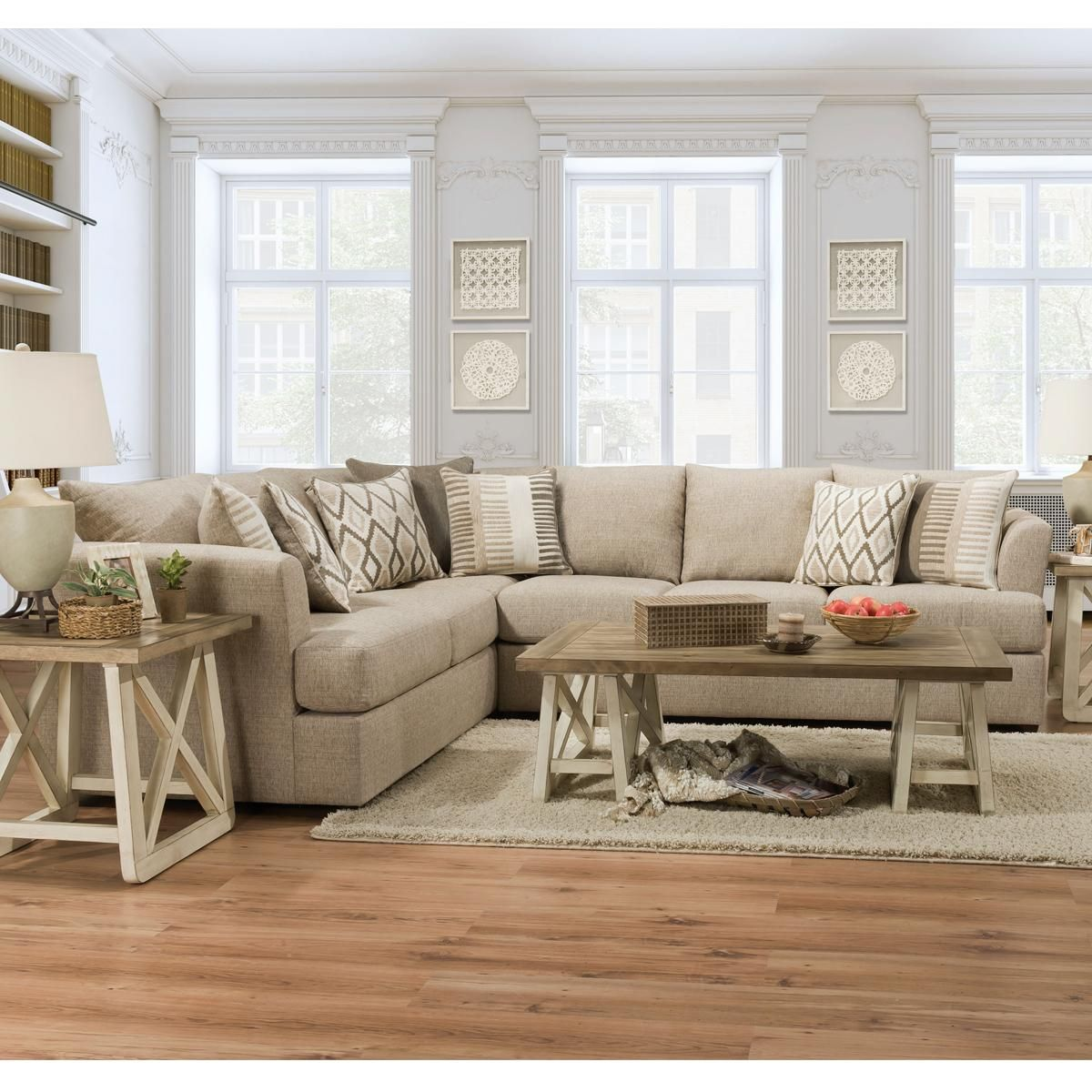 Simmons Upholstery 2 Piece Sectional In O Connor Hemp Nebraska Furniture Mart Furniture Living Room Furniture Sectional
