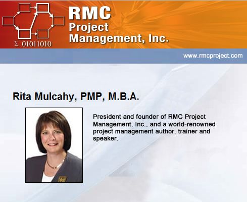 Rita Mulcahy Project Management Book