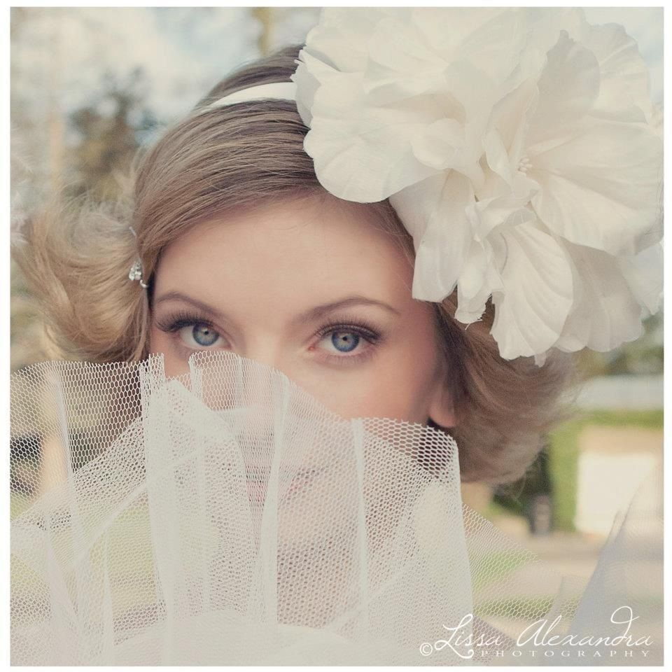 Wedding Flowers Harrogate: Beautiful Image Of My Large Silk Flower Headdress On A