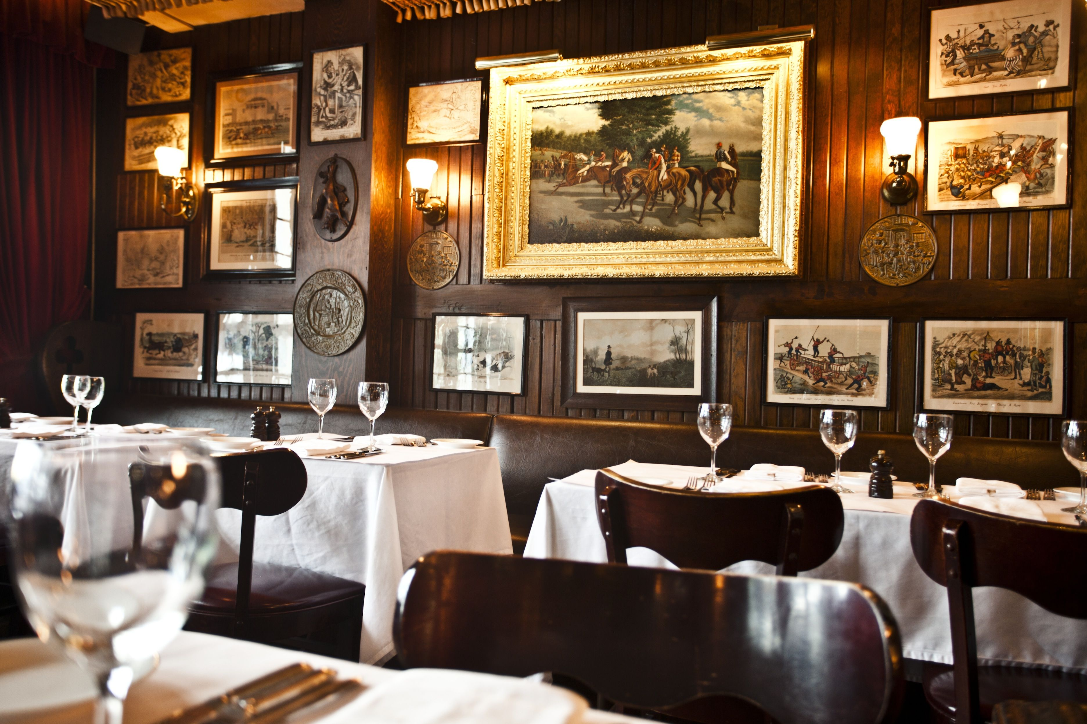 Keens Steakhouse Interior 72 West 36th Street