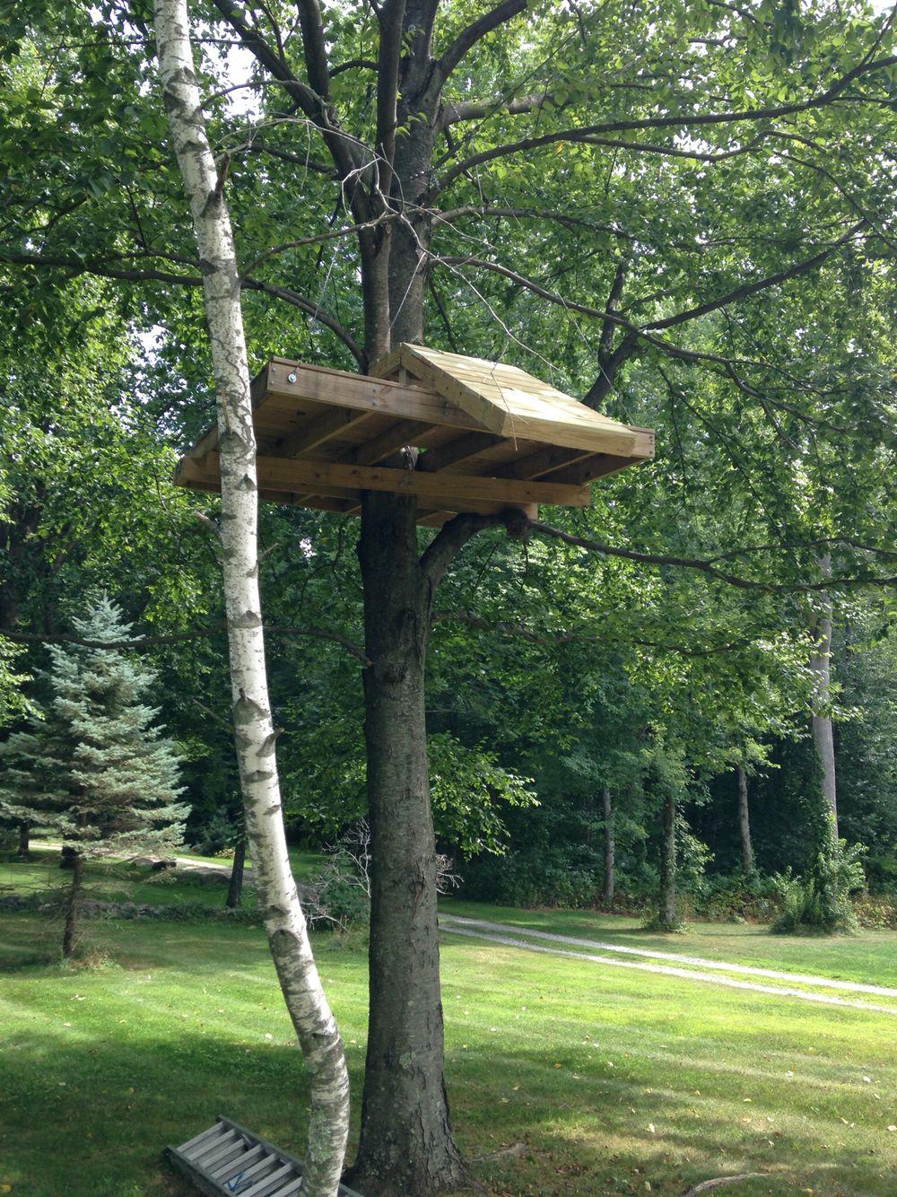 Zip line landing platform | Zip line backyard, Ziplining ...
