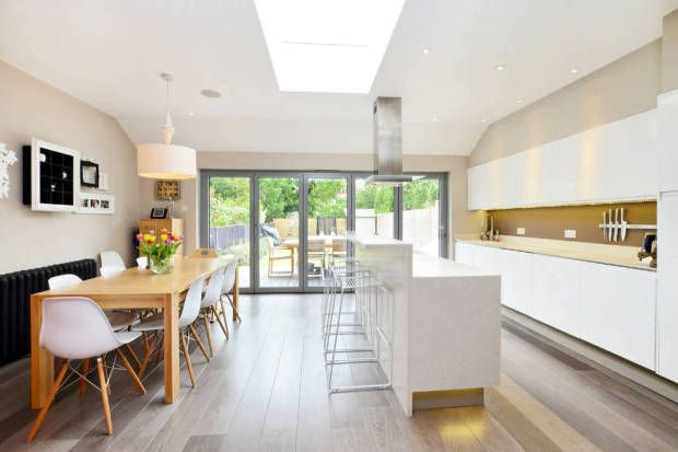 Lovely open plan kitchen