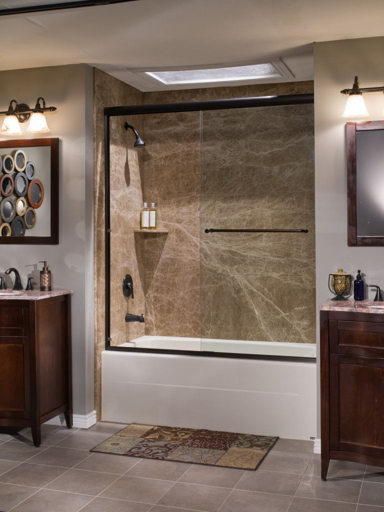 re-bath natural stone shower | Bathroom 2 | Pinterest | Stone shower ...