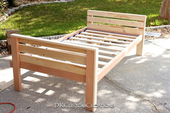 Custom Made Twin Size Bed Frame Solid Pine Very Sturdy