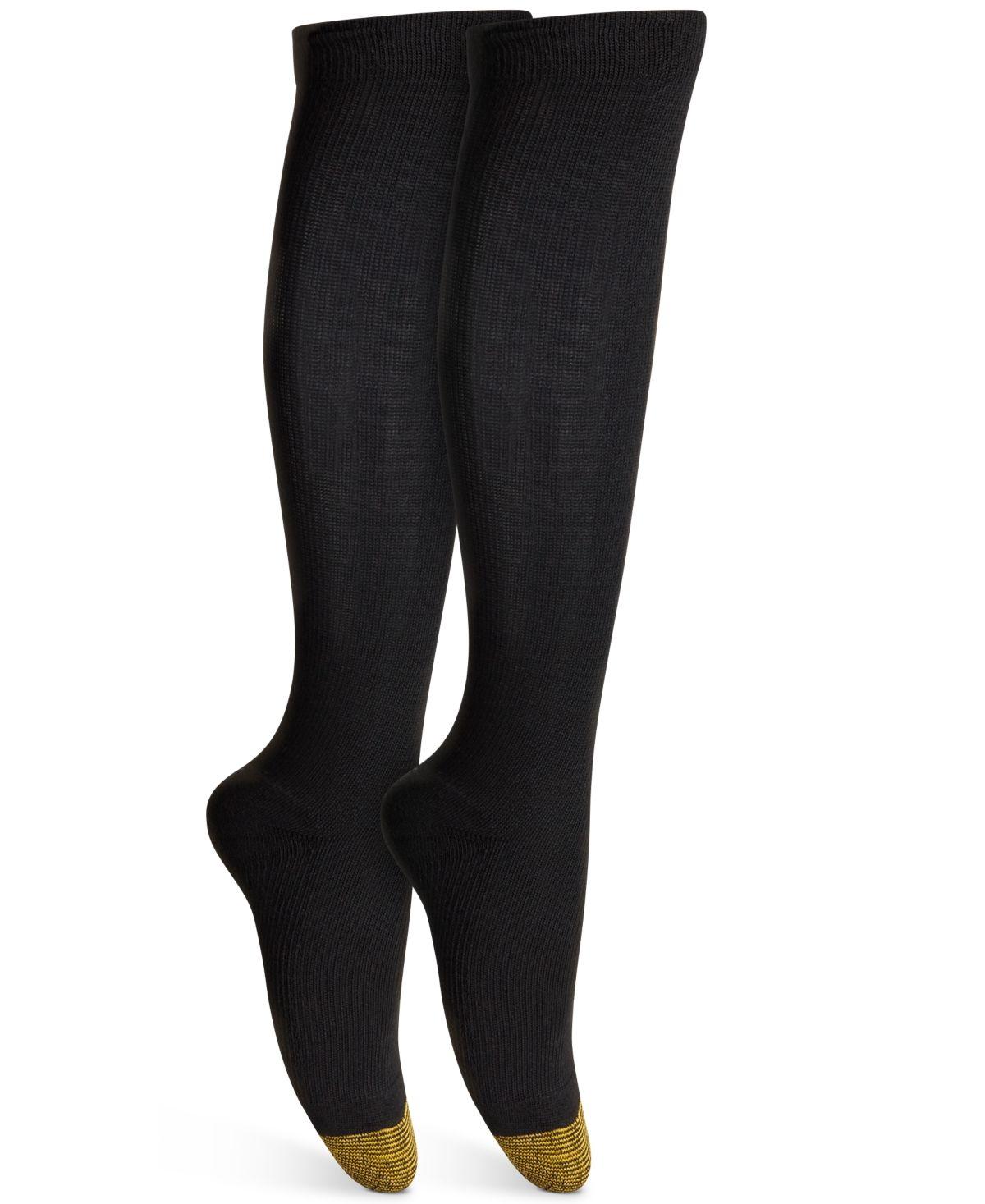 Gold toe womens coolmax compression socks black women