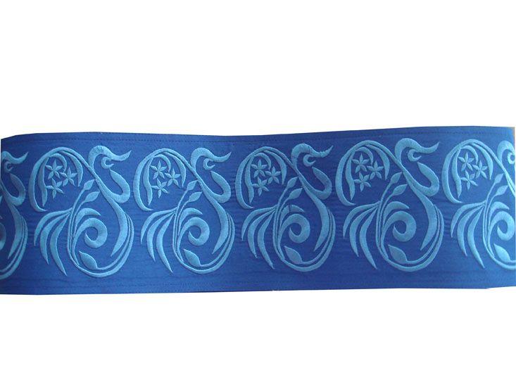 Пояс голубой, широкий вышитый /Цветок/. На крючках.