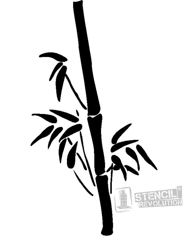 Bamboo Stencil For Crafts Walls Stencils Tree Stencil Tree