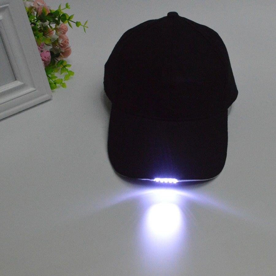 Black LED Flashlight Hat Bike Cycling Caps Night Walking Hiking Fi | eBay