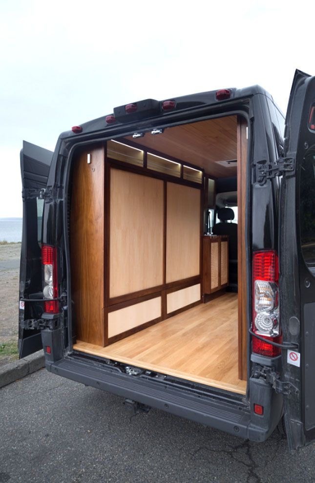 Fold Away Bed Enlarges This Well Crafted Van Conversion Video TreeHugger