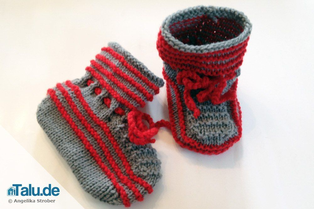 Photo of Simply knit baby shoes yourself – Instructions – Talu.de