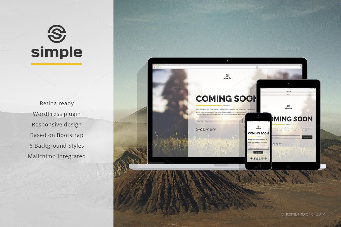 Simple coming soon wp plugin simple is a stylish responsive coming simple coming soon wp plugin simple is a stylish responsive coming soon template with minimalistic maxwellsz