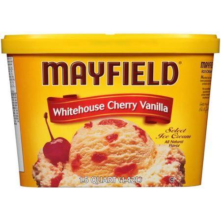 Mayfield Whitehouse Cherry Vanilla Select Ice Cream, 1.5 qt