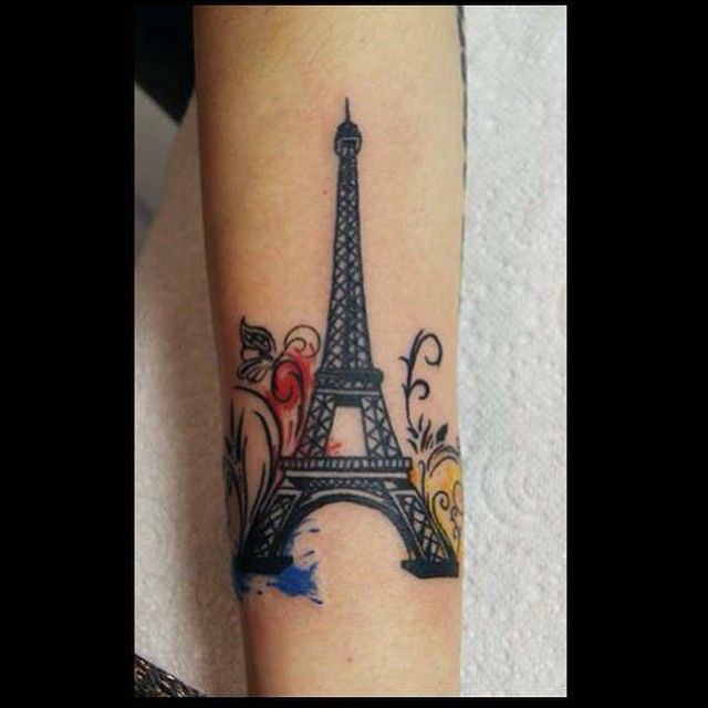 Image Result For Eiffel Tower Watercolor Tattoo Eiffel Tower