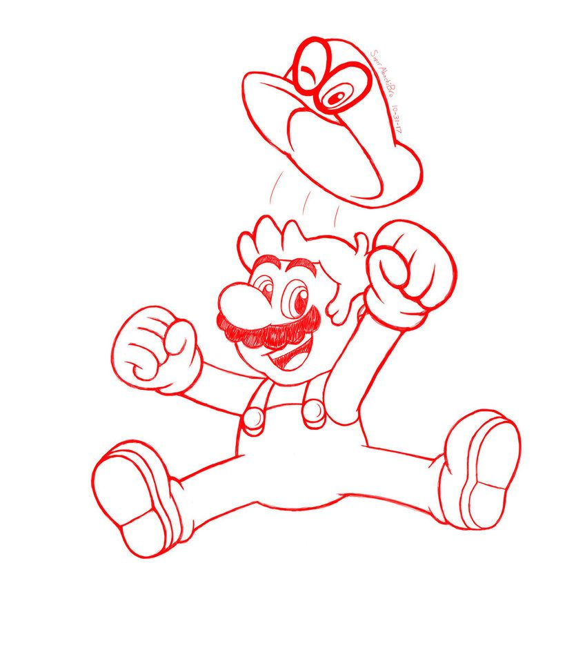 Mario And Cappy By Superabachibro Deviantart Com On Deviantart Mario Super Mario Bros Art Memes