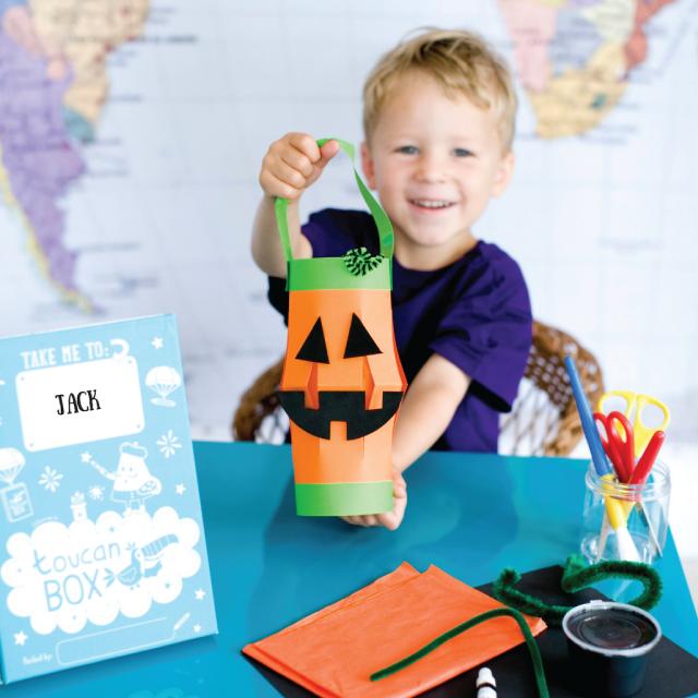 #Free Jack-O-Lantern #Kids toucanBox Craft Box with O2 Priorities #Halloween #Halloween2016 #O2Priority #freebies