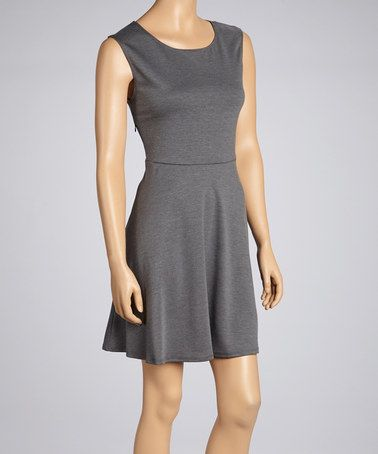 Take a look at this Charcoal Sleeveless Dress by Pure and Simple on #zulily today!