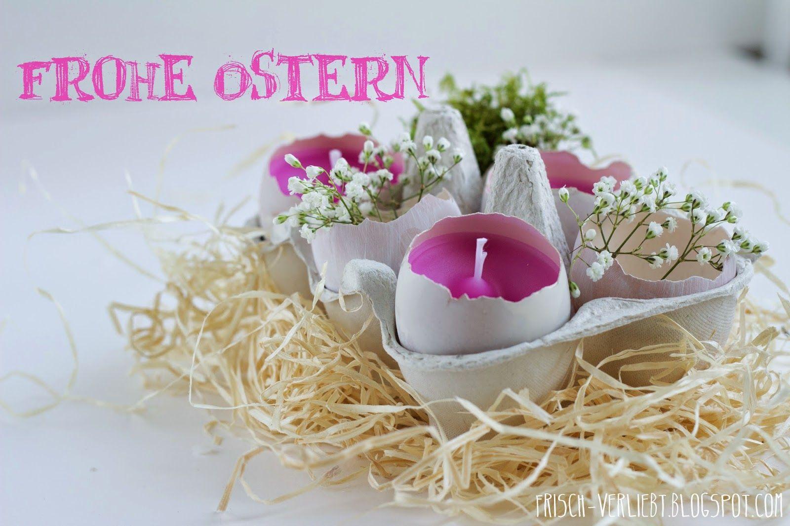 Ostern im Ei   Selbstgemachte Kerzen & Eierbecher