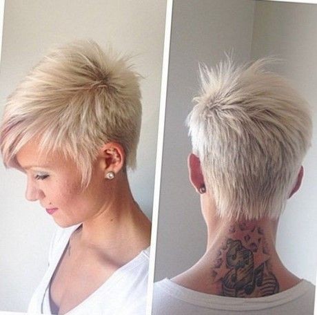 Freche Kurzhaarfrisuren Damen 2017 Frisuren Pinterest Hair