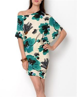 Trinity Printed Off-The-Shoulder Dress