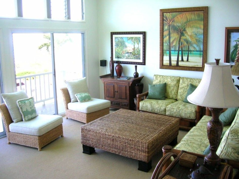 Featured. Inspiring Featured Vintage Makeover Home Ideas With Cement Flooring Tile Concept Also Rattan Sofa Bed Featured: Mesmerizing Tropical Living Room Decorating Ideas Featured Rattan Table And Small Wooden Sofa Sets Design ~ wegli