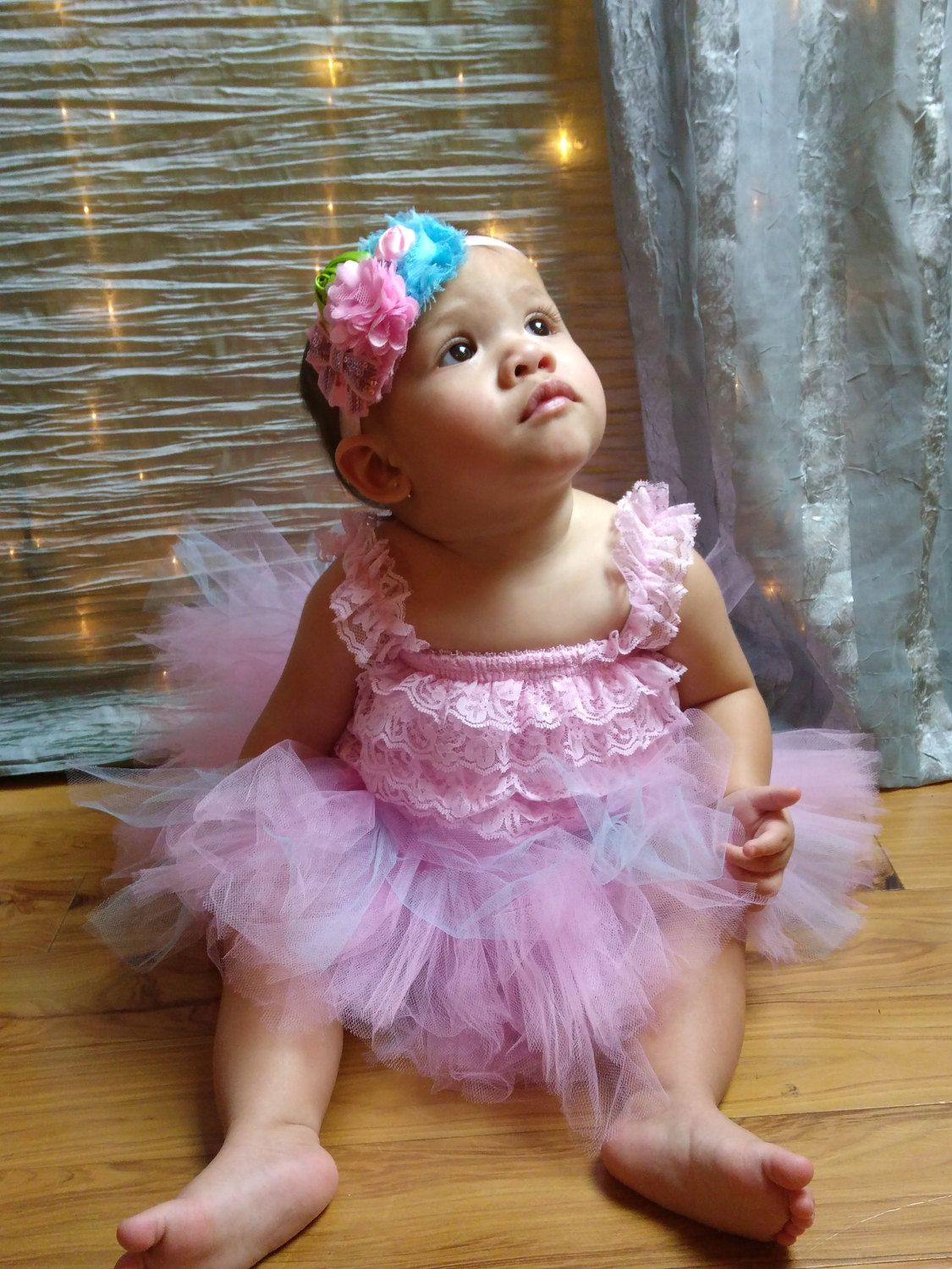 """Cotton Candy Dream Romper, Tutu, & Headband Set by MolinasBebe on Etsy  ***Free shipping in the USA*** Tutus are customizable 0-3 months 12""""waist 6.5 length 3-6 months 14"""" waist 7.5 length 6-12 months 16"""" waist 8.5 length 12-24 months 18"""" waist 9.5 length or a longer 10 length"""