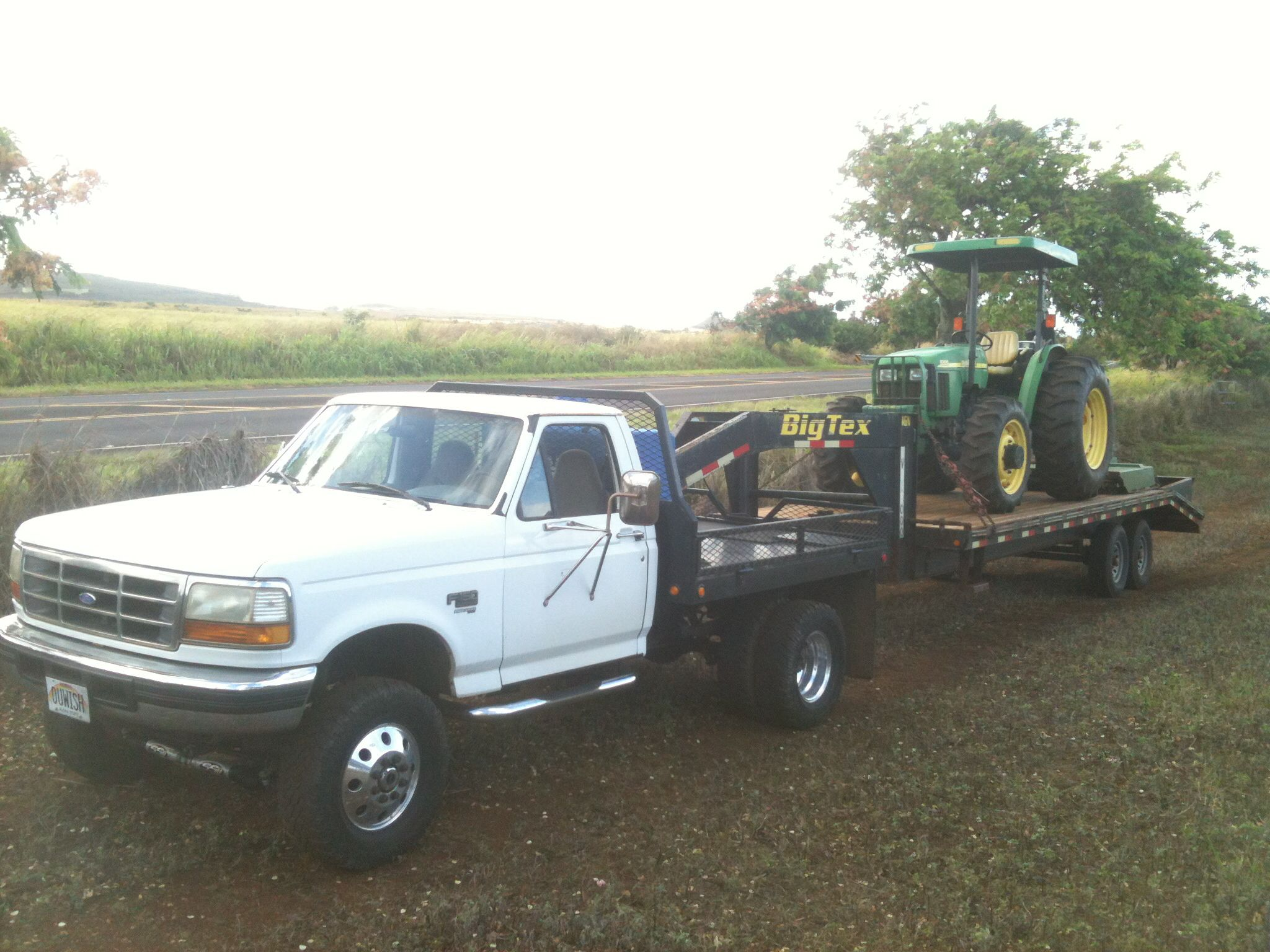 1996 ford f 350 hauling a john deere tractor support diesel dave buy awesome