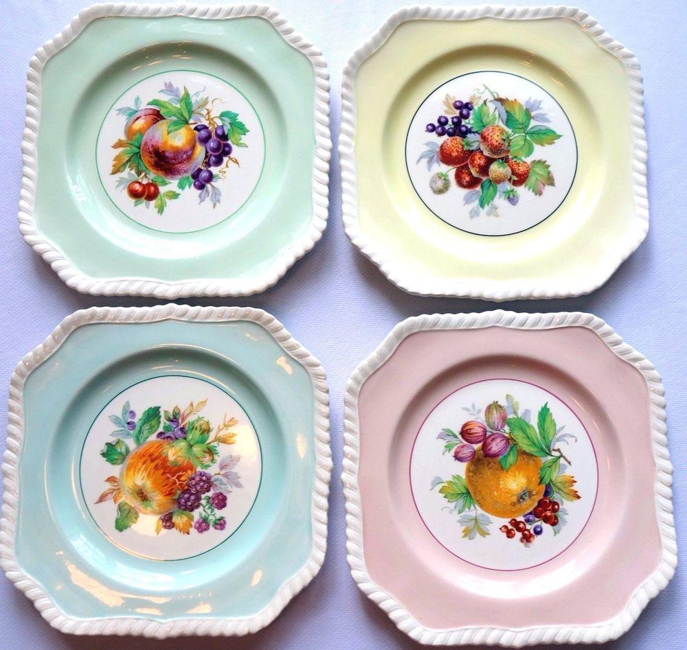 Vintage Johnson Bros. California Pattern Old English China Salad Plates  sc 1 st  Pinterest & Vintage Johnson Bros. California Pattern Old English China Salad ...