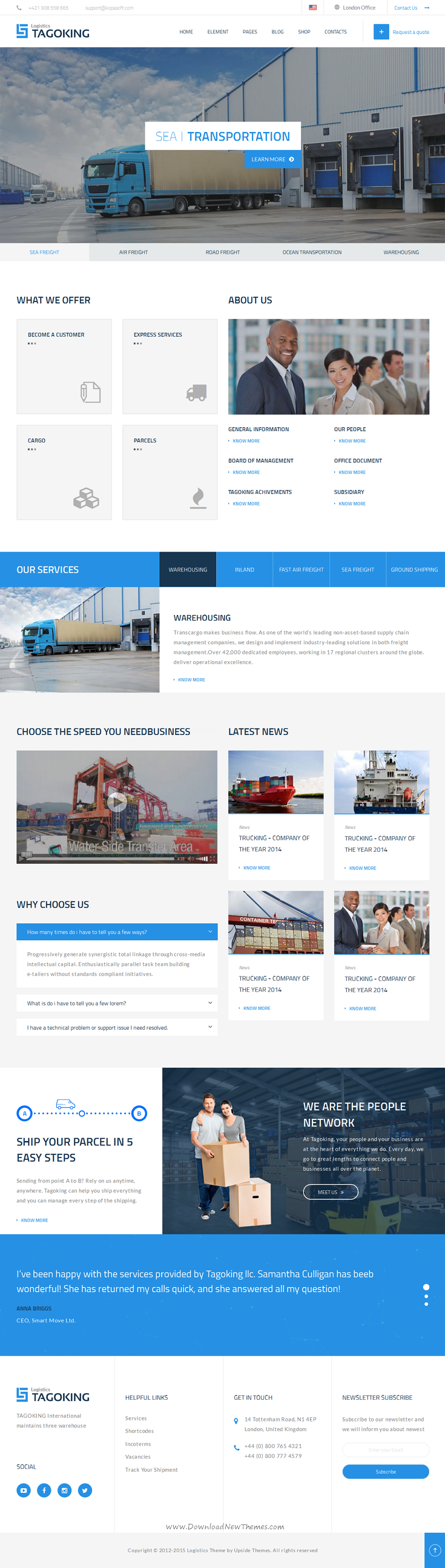 Tagoking Freight And Logistics HTML Template Professional - Professional website templates