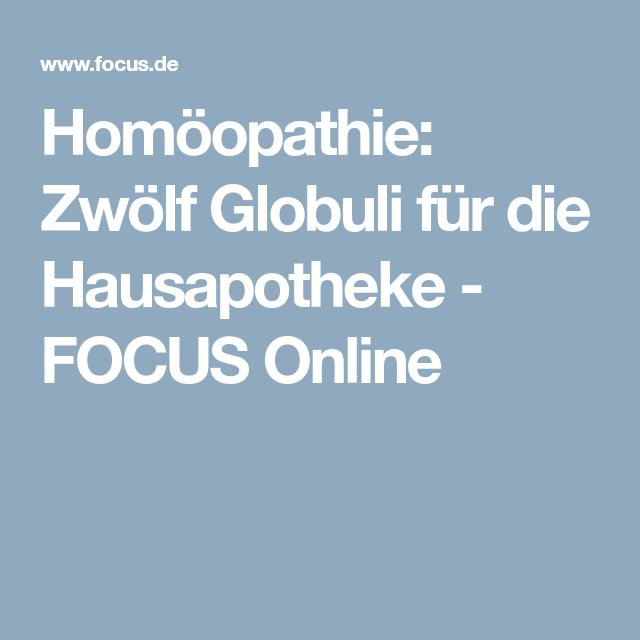 Homöopathie: Zwölf Globuli für die Hausapotheke - FOCUS Online