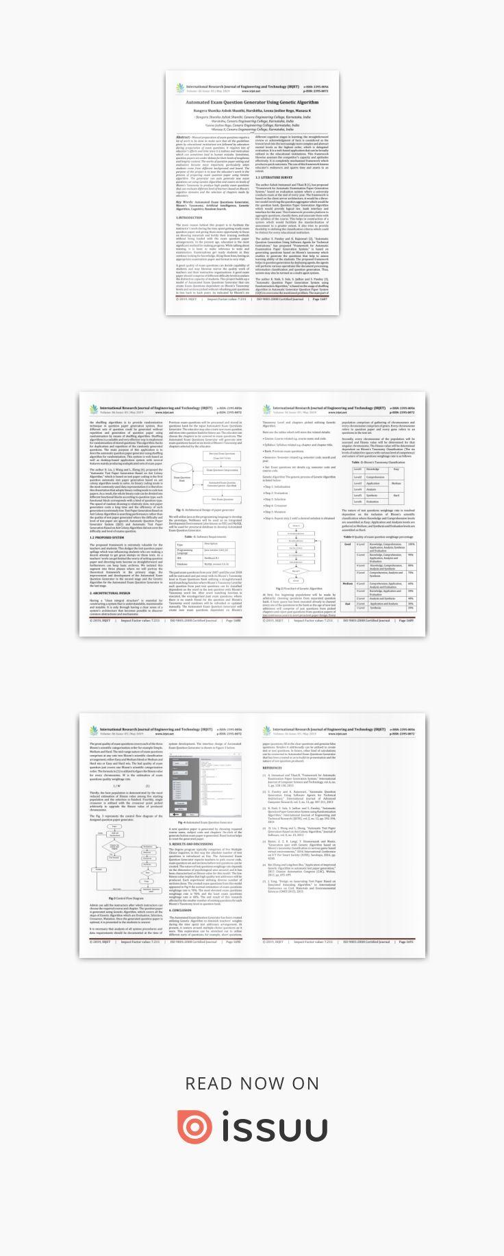 IRJET Automated Exam Question Generator using