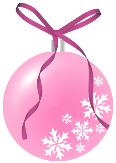 Pink Christmas Ornament Clip Art Christmas In Pink Pink