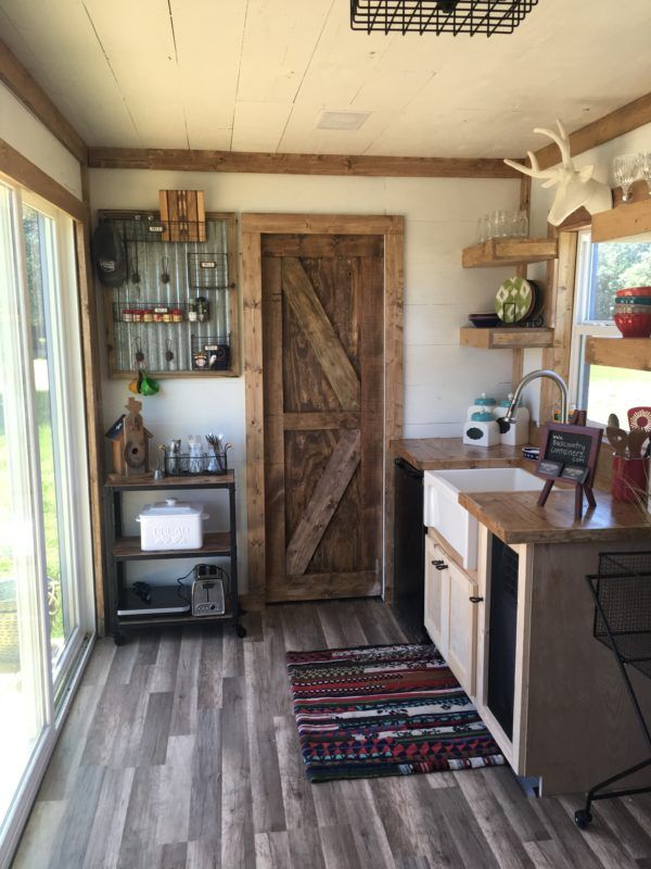 rustic retreat shipping container tiny house 005 Rustic Retreat Shipping Container Tiny House