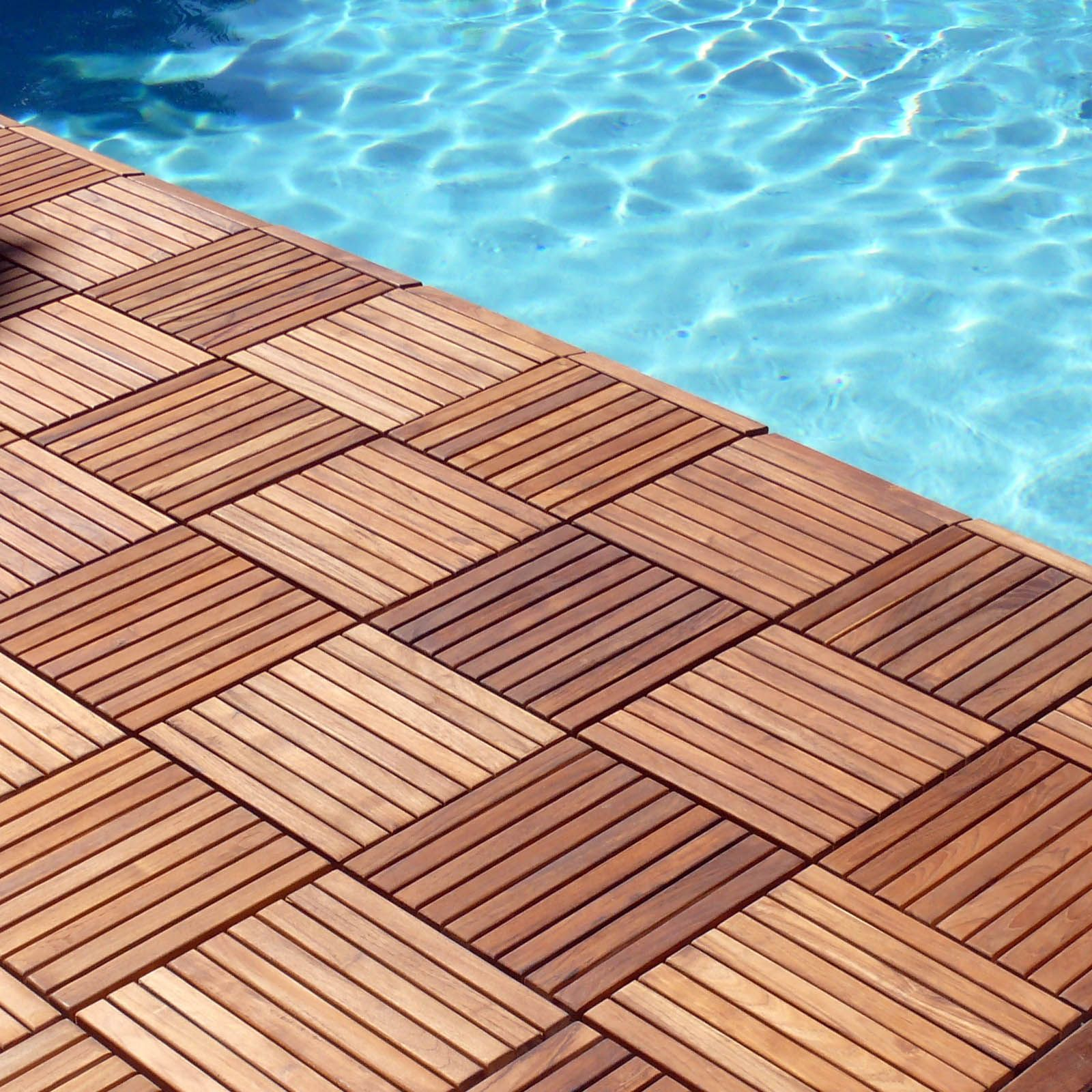 Le Click Interlocking Floor Tiles Teak Wood Clic In Outdoor Flooring