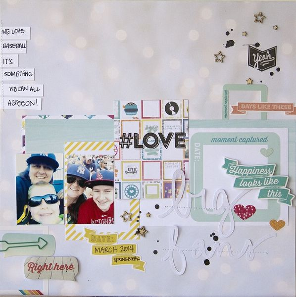 #papercraft #scrapbook #layout.  Big Fans + PROCESS VIDEO by Peally Scrappy @2peasinabucket