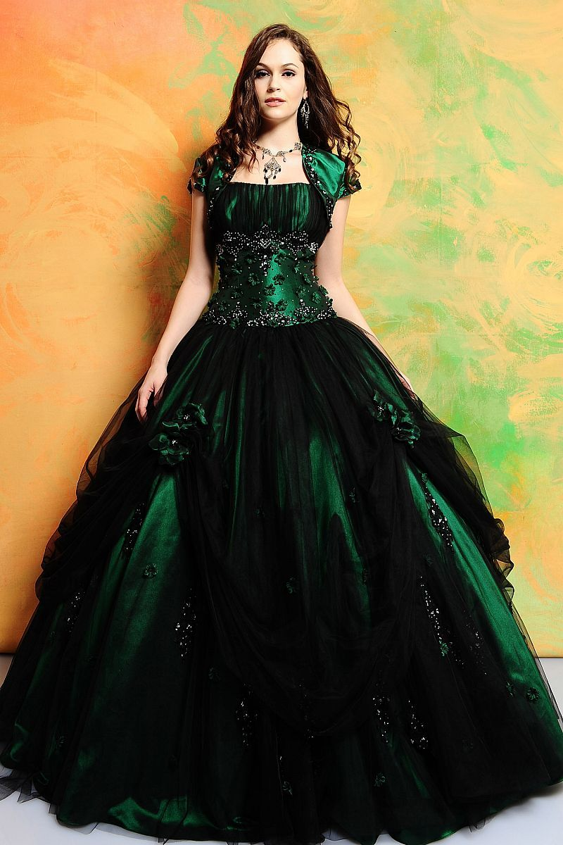 Buy and m green lace dress gowns ball gowns dresses