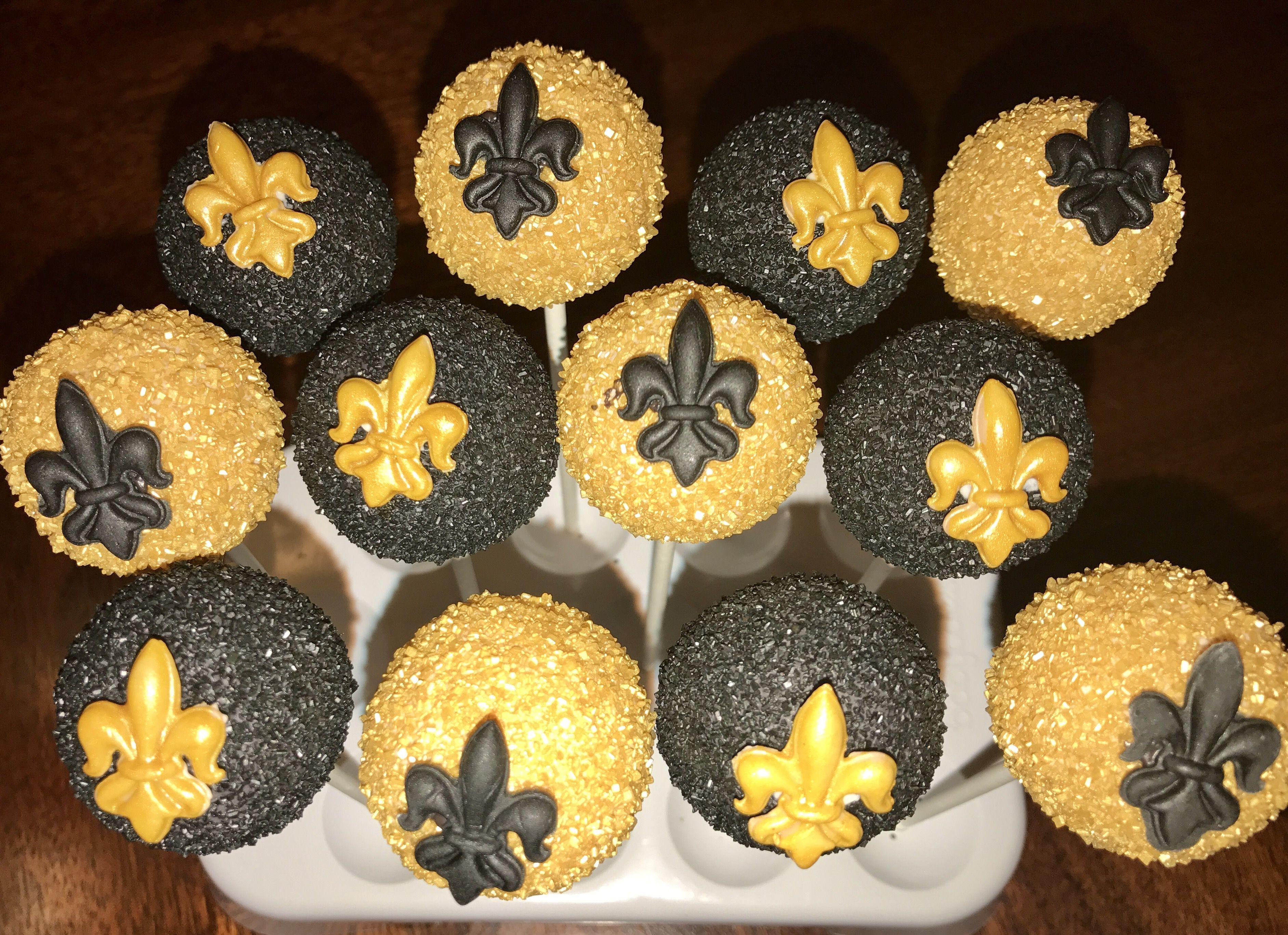 New Orlean Saints Cake Pops www.facebook.com/FriscoCakePopShop www ...