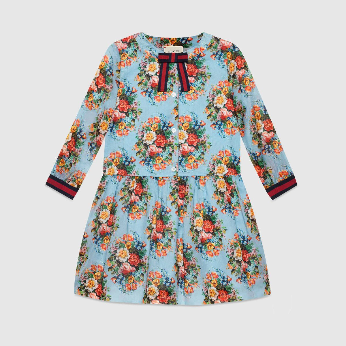3b5bcd51dae3 Children s floral print cotton voile dress