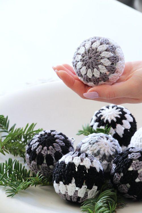 Weihnachtskugeln, häkeln, Christmas, crochet, Annette Diepolder ...